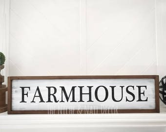 Farmhouse Sign, Wood Sign, Home Decor, Rustic Home Decor, Handmade Decor, Gift Idea, Farmhouse Decor, Farmhouse, The Niche And Nail