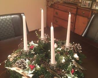 Christmas wreath, advent wreath, table wreath, large Christmas wreath