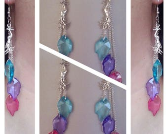 """stunning Peacock"" earrings"
