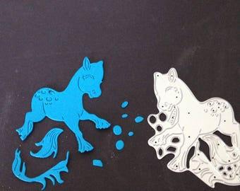 Pony metal die cut stencil card making Scrap booking die cutters
