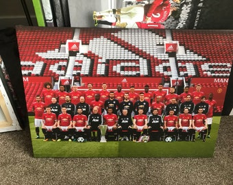 Manchester United Squad 17/18 Canvas