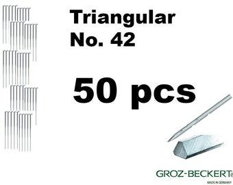 Triangular felting needles, Gauge 42. Price for 50pcs. Made in Germany.