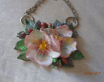 Stain: Rose of polymer clay stain with long chain