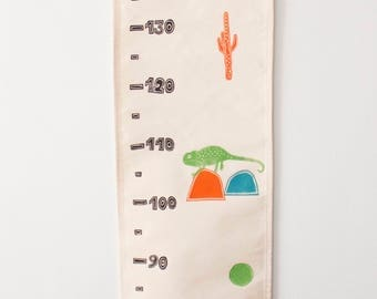 growth chart, height chart, linocut, deco room, kids room, wall decor, wall hanging, home decor, home & living, kids gift, cactus linocut