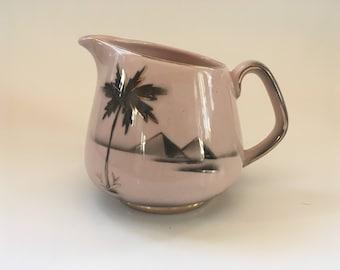 Golden Pyramid Pink Gold Creamer Keele Street Pottery England