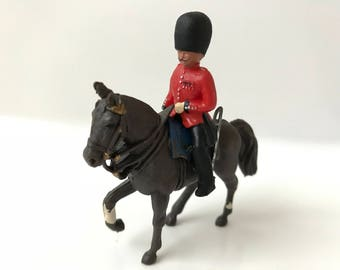 1960's Britains Toy Soldiers Herald 4120 Mounted Guard Officer