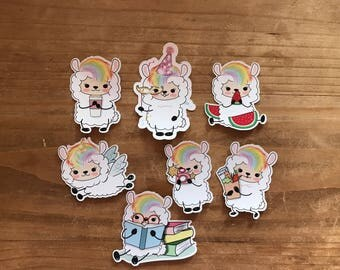 Llama die cuts. 3 inch cut outs. Perfect size for decorating a planner, scrapbook, journal, or travelers notebook.