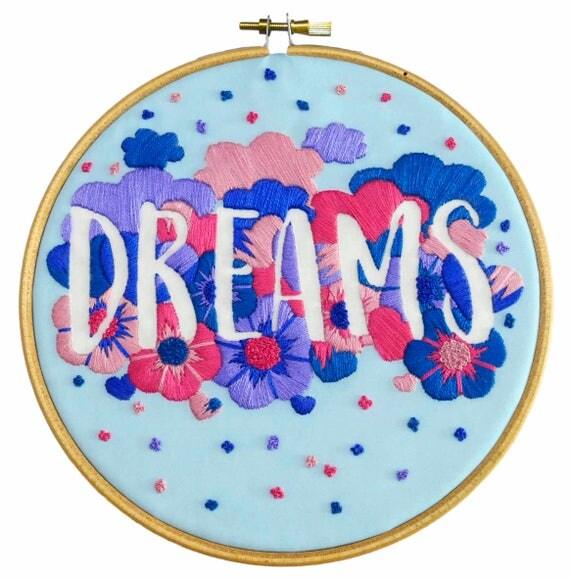 Feminist modern embroidery kit suffragette beginner