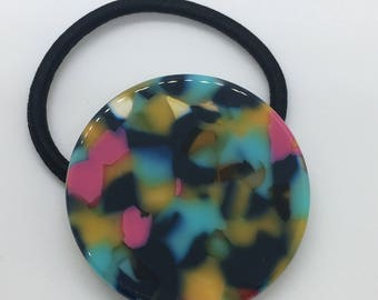 Multicolored Circle Ponytail Holder Elastic Hair Band Hair Elastics