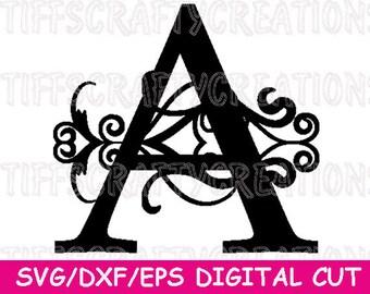 Vine Font svg, Digital Font File, Digital Font Svg, Monogram Dxf Fonts, Svg Monogram Font, Cricut Letters, Alphabet Svg Files, Svg Fonts