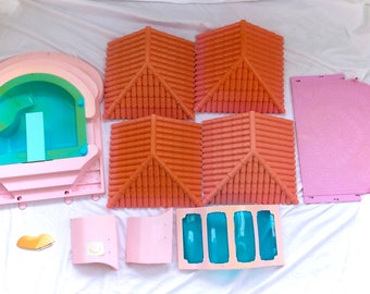 G1 My Little Pony Paradise Estates Lot Mansion House Parts Playset Play Set Vintage 80s Near Complete Original Kawaii Fairy Kei Retro Rare