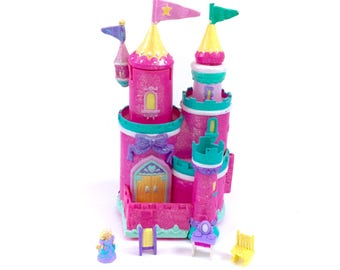 Vintage Trendmasters Castle Vanity Salon Starcastle Star Castle Complete With Doll Accessories 90s Polly Pocket Kawaii Fairy Kei Glitter HTF