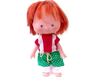 Vintage Strawberry Shortcake Doll Berry Wear Outfit Sunny Patch Pants Shirt Pantaloons Dolly Clothing SSC Clothes 80s Original 1980s Retro