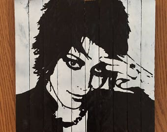 Handmade Joan Jett Wood Wall Art