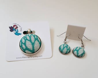 Wrap Scrap Jewelry - Jewelry Set - Baie Slings - Paradise Nature - Babywearing - Turquoise - White