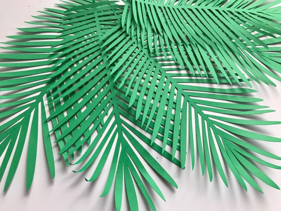 Tropical Leaves Green Leaves Leaves Cut Outs Pack Of 5