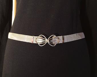 Vintage Sleek Metal Belt