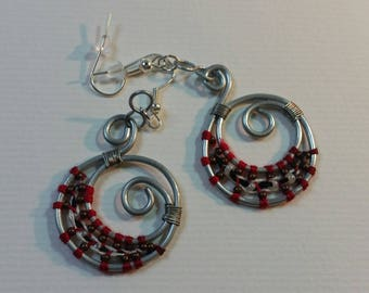 """Steel"" Collection earrings - Crescent Moon"