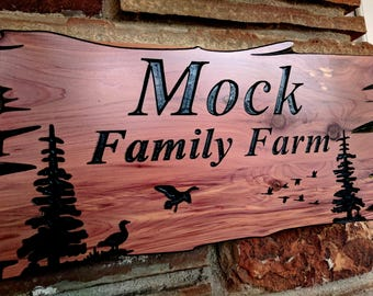 Custom Wood Sign | Wood Sign | Outdoor Wood Sign | Carved Wood Sign | Family Name Sign | Personalized Wood Sign | House Number Sign | Rustic