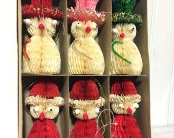 Vintage Honey Comb Christmas Ornaments