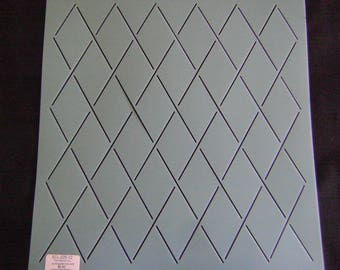 Sashiko Japanese or Traditional Quilting Stencil 12 in. Background 2 in. by 3 in. Diamond Grid