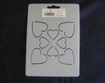 Sashiko Japanese/Traditional Embroidery/Quilting Stencil 4 in. Hearts Block