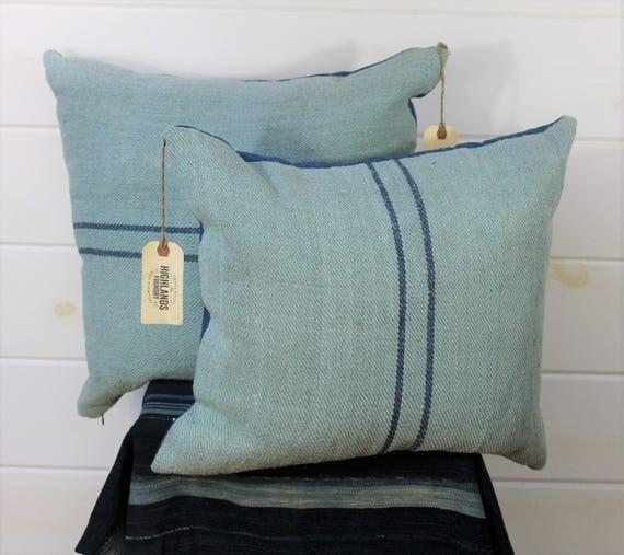 Overdyed Grain Sack Pillow Cover