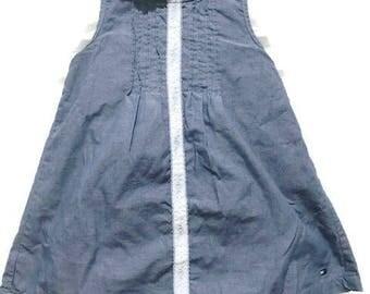 Vintage Tommy Hilfiger 3-6 Month Old Baby Blue  Dress Baby's Dresses