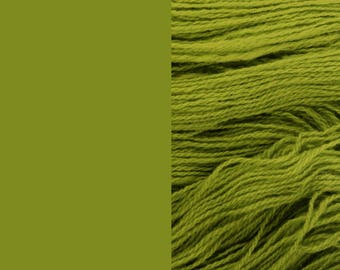 Wool Yarn, olive green, DK, 3-ply worsted knitting yarn 8/3 100g/130m