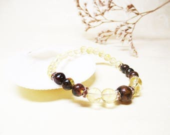 Amber Bracelet Citrine Bracelet Gemstone Bracelet Solar Plexus Chakra Bracelet Prosperity Bracelet Mexican Amber Abundance Bracelet