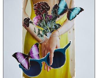 Bea | original collage art print