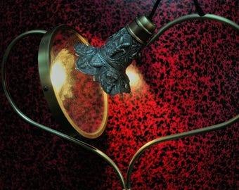 Love romantic lamp with a mirror