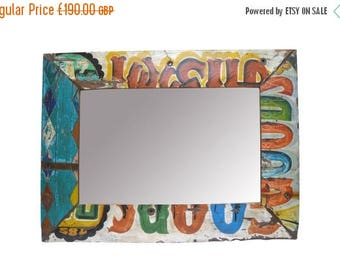 20% off this item Reclaimed Wood Painted Mirror Large