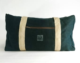 Weekender, travel bag, natural, 100% hemp, waterrestistant, sustainable, vegan, organic, ecological