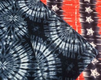 Patriotic tie dye all fleece blanket