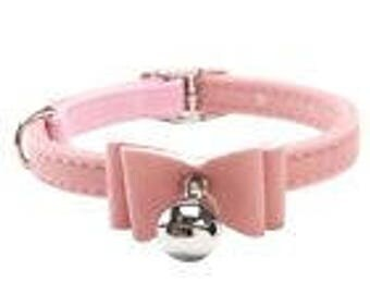 New Small Pink with Bell Cat/Dog Collar