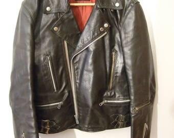 vintage motorcycle leather jacket size 40