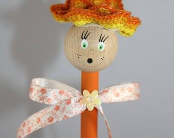 Orange ball pen