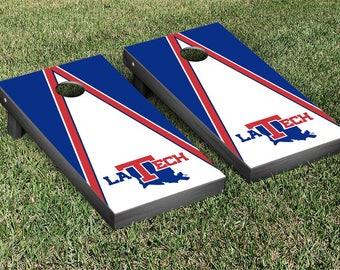 Louisiana Tech Bulldogs Regulation Cornhole Game Set Triangle Designs