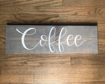 Grey coffee sign