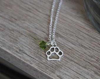 Personalized Dog Necklace - Custom Dog Necklace - Initial Dog Necklace - Dog Jewelry - Dog Paw Necklace - Pet Jewelry - Custom pet Jewelry