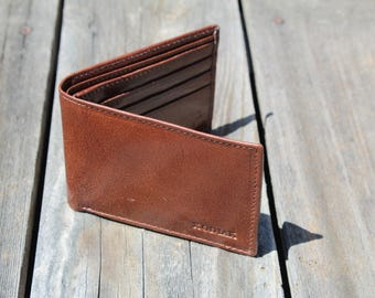 Buffalo Leather Wallet  - Dark Brown