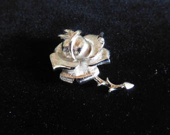 Silver Tone Vintage Rose Pin By Accents by Hallmark