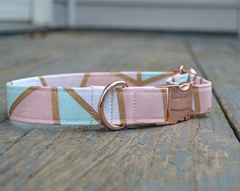 Dog Collar, Pink Dog Collar, Girl Dog Collar, Dog Collar Pink, Dog Collar Girl, Dog Collar Rose Gold, Rose Gold Dog Collar, Dog Collars, Dog