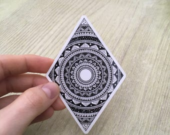 Diamond mandala sticker