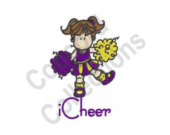 Cheer - Machine Embroidery Design, Cheerleader, Cheerleading