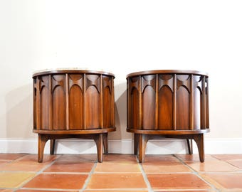 Mid Century Perspecta Bedside Nightstand or Side End Table