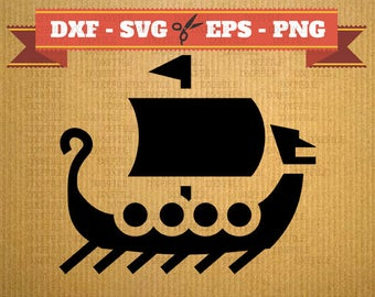 Longship SVG Drakkar vector files for cricut, longship cutting files, clipart Drakkar, DXF files Drakar, silhouette ship, svg longship