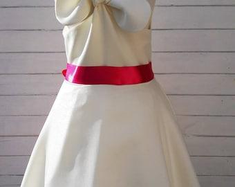 Child ceremonial dress, girl baptism dress bridesmaid dress