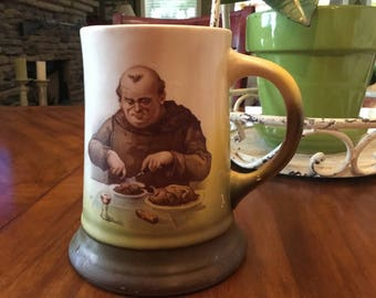 Lebeau Porcelaine Monk French Beer Stein